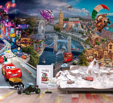 Disney Premium wall mural Car's World
